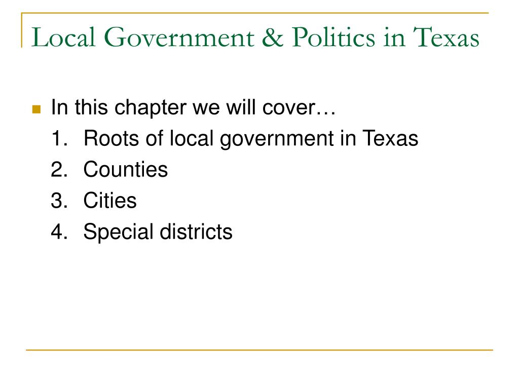 Local Government & Politics in Texas