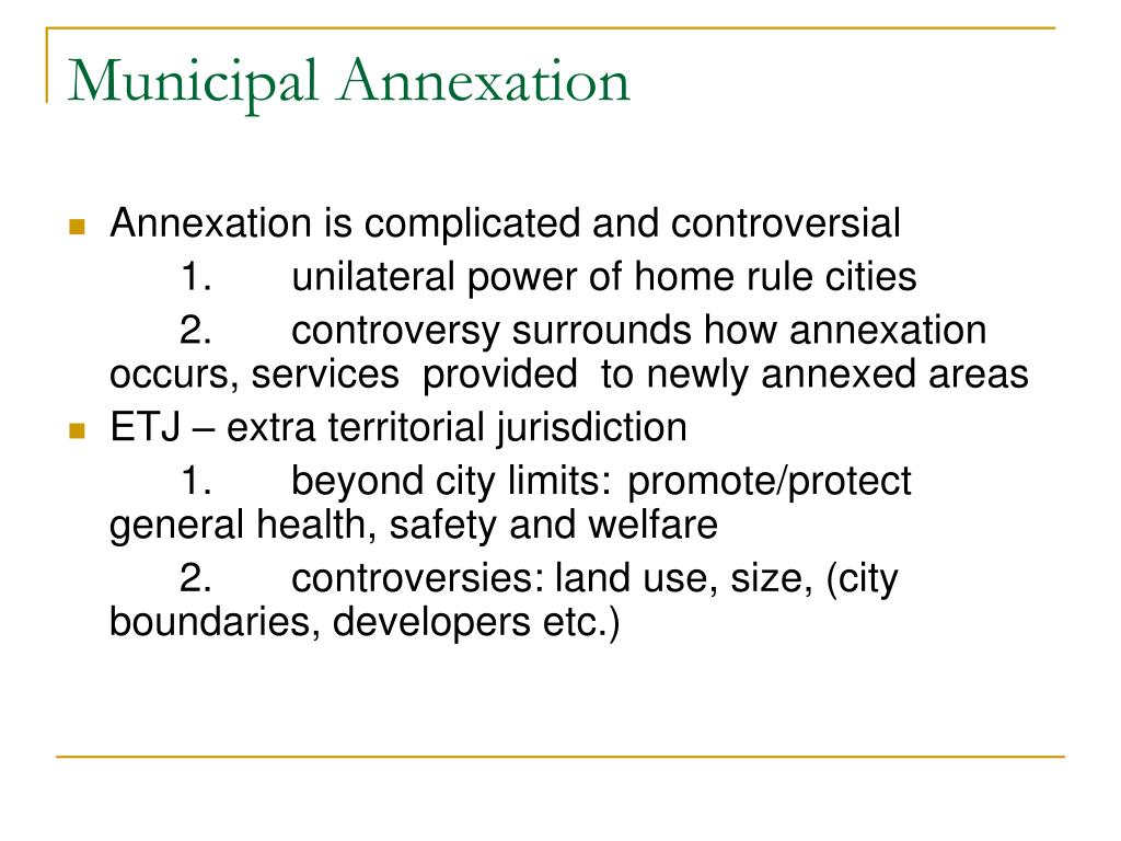 Municipal Annexation