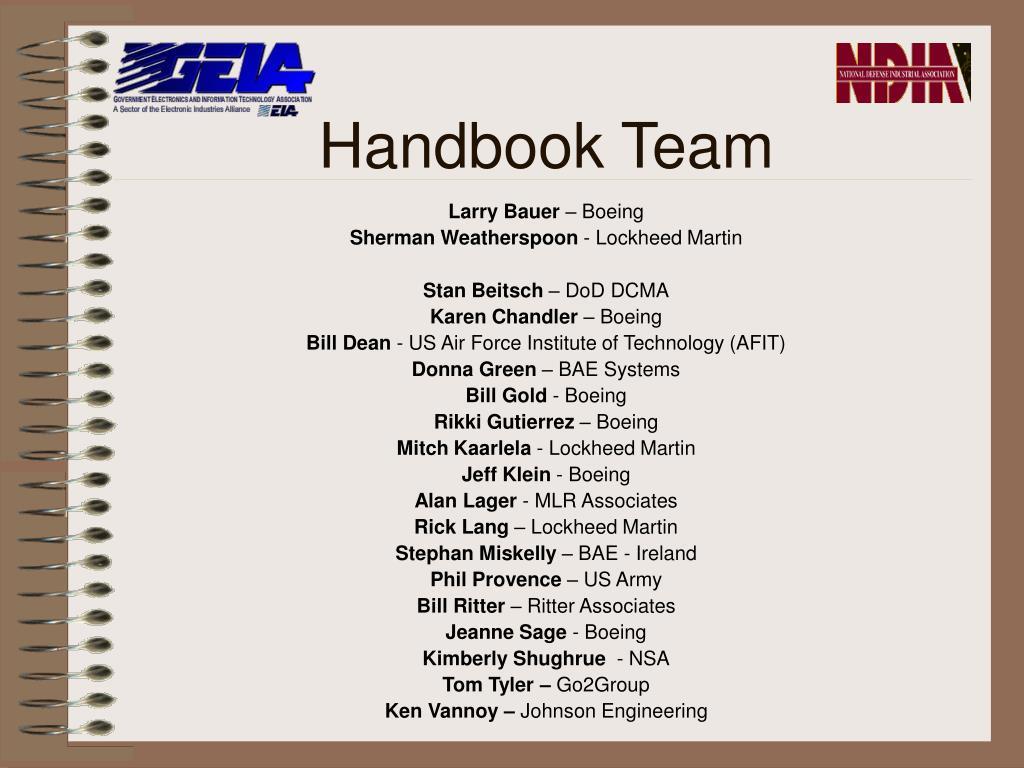 Handbook Team