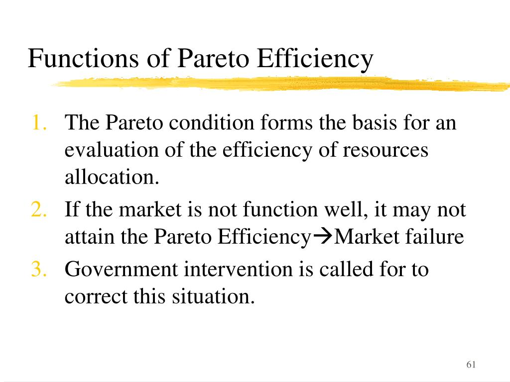 Functions of Pareto Efficiency
