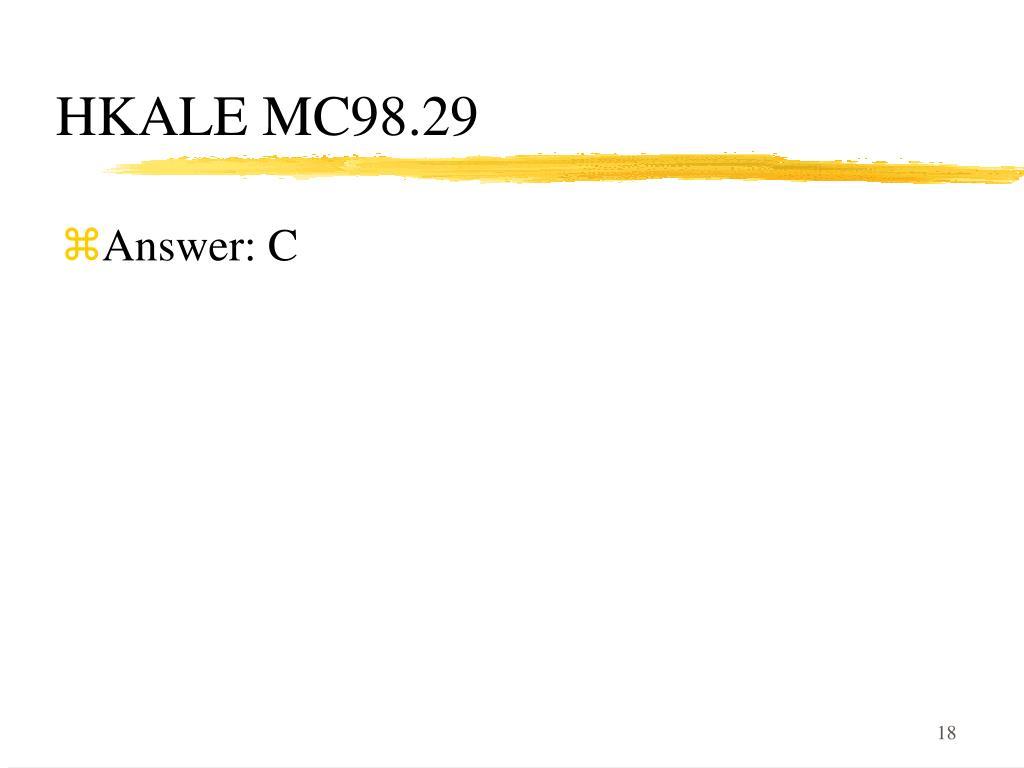 HKALE MC98.29
