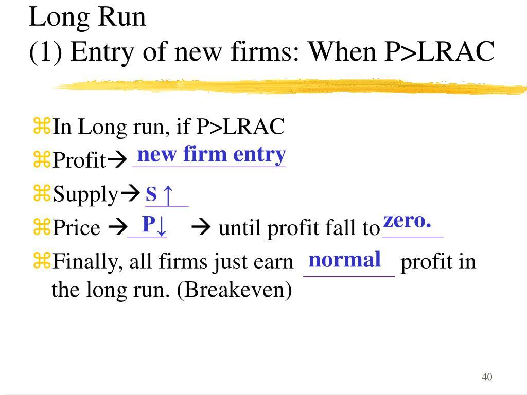 Long Run                                              (1)