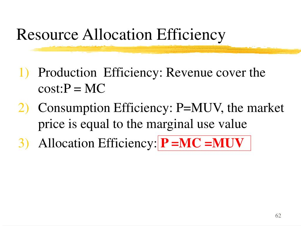 Resource Allocation Efficiency