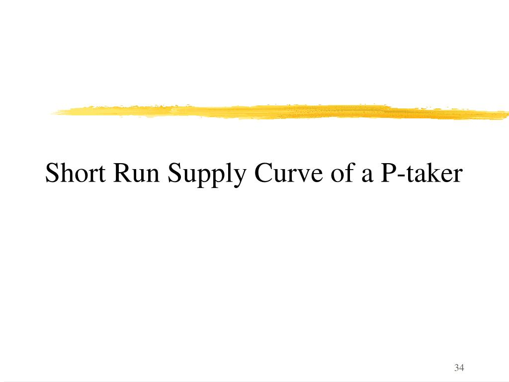 Short Run Supply Curve of a P-taker
