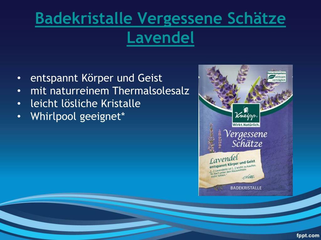 Badekristalle Vergessene Schätze Lavendel
