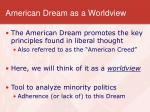 american dream as a worldview