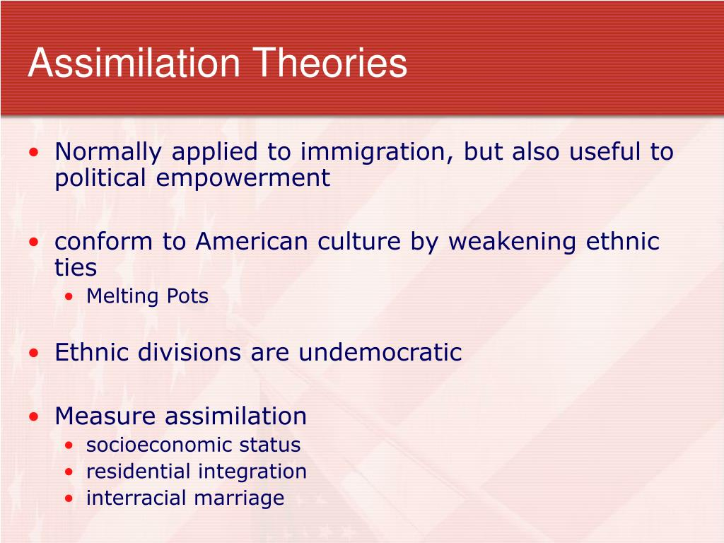 Assimilation Theories