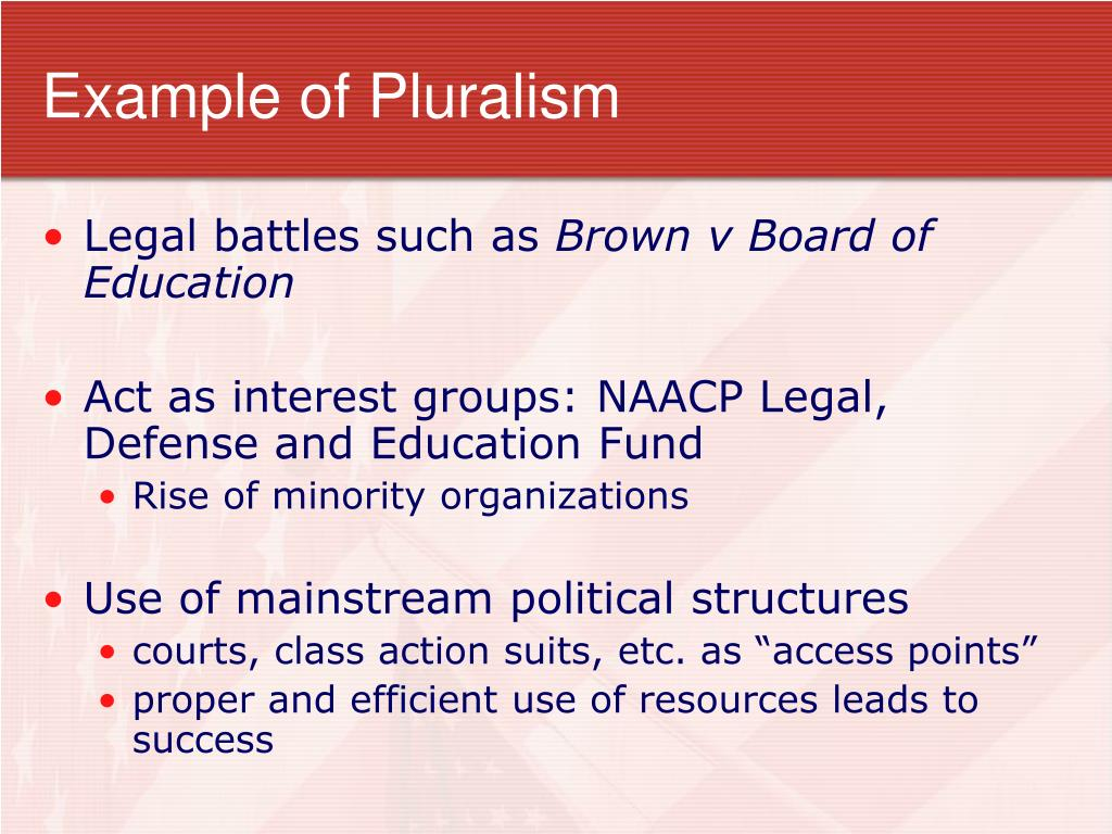 Example of Pluralism