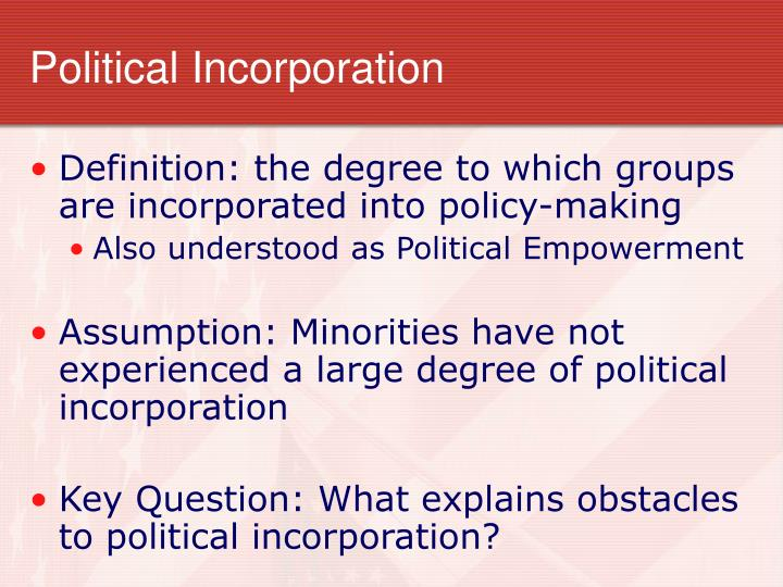Political incorporation