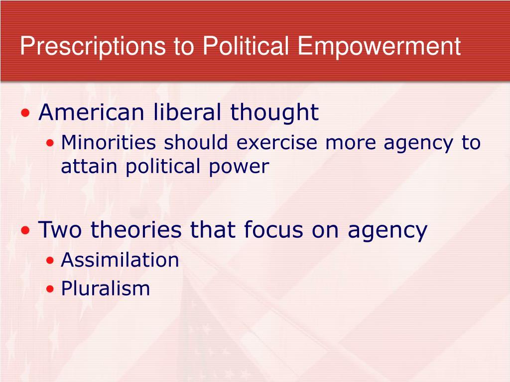 Prescriptions to Political Empowerment