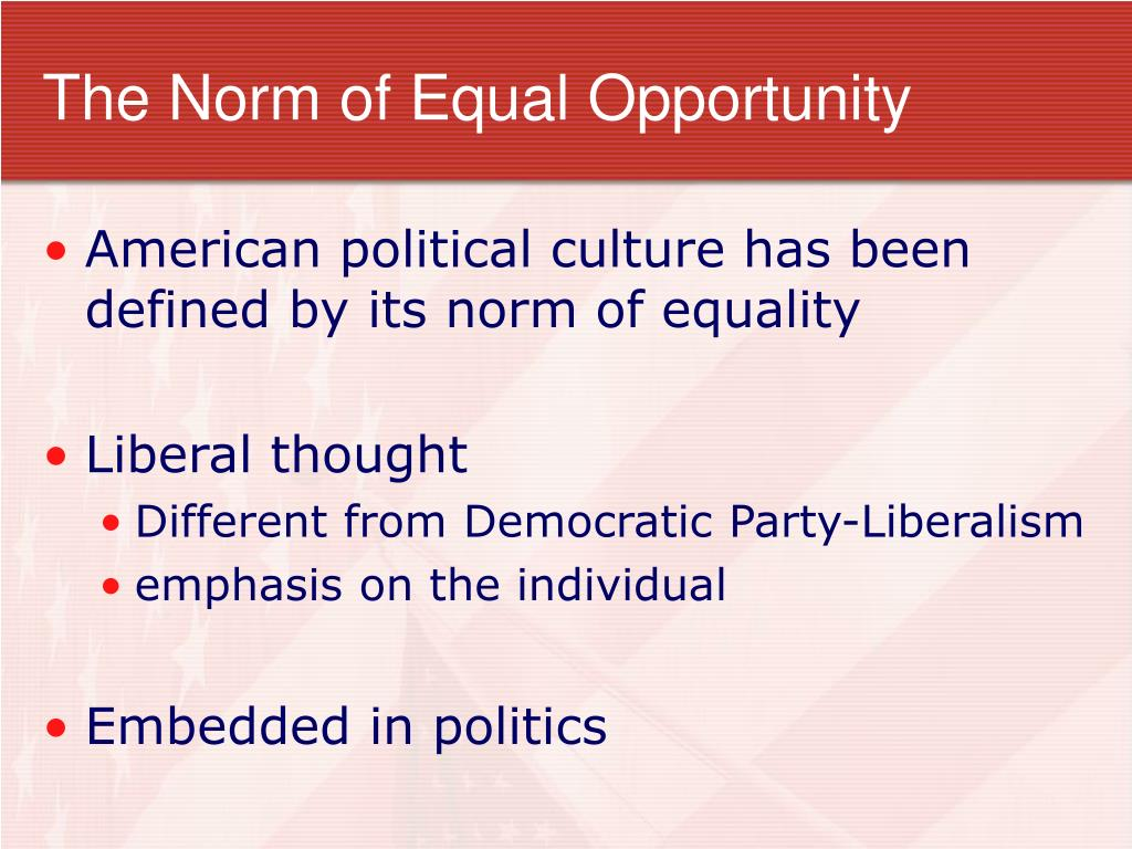 The Norm of Equal Opportunity
