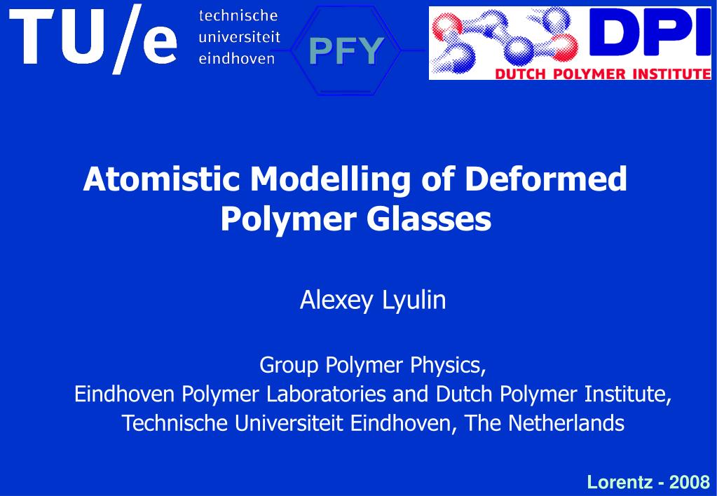 Atomistic Modelling of Deformed Polymer Glasses