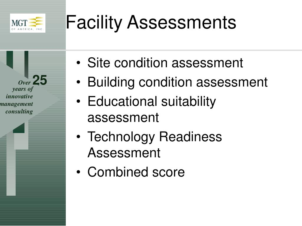 Site condition assessment