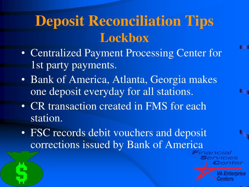 Deposit Reconciliation Tips
