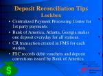 deposit reconciliation tips lockbox