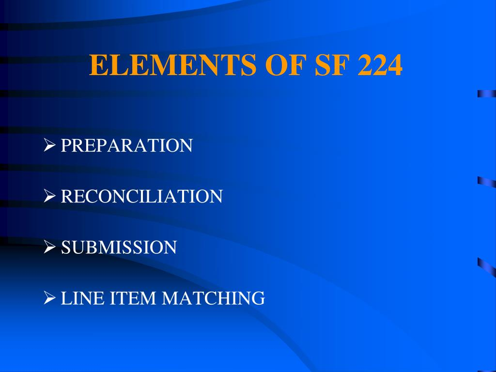 ELEMENTS OF SF 224