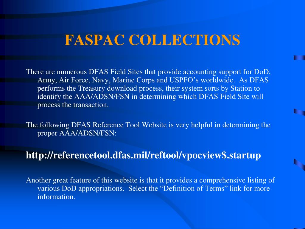 FASPAC COLLECTIONS