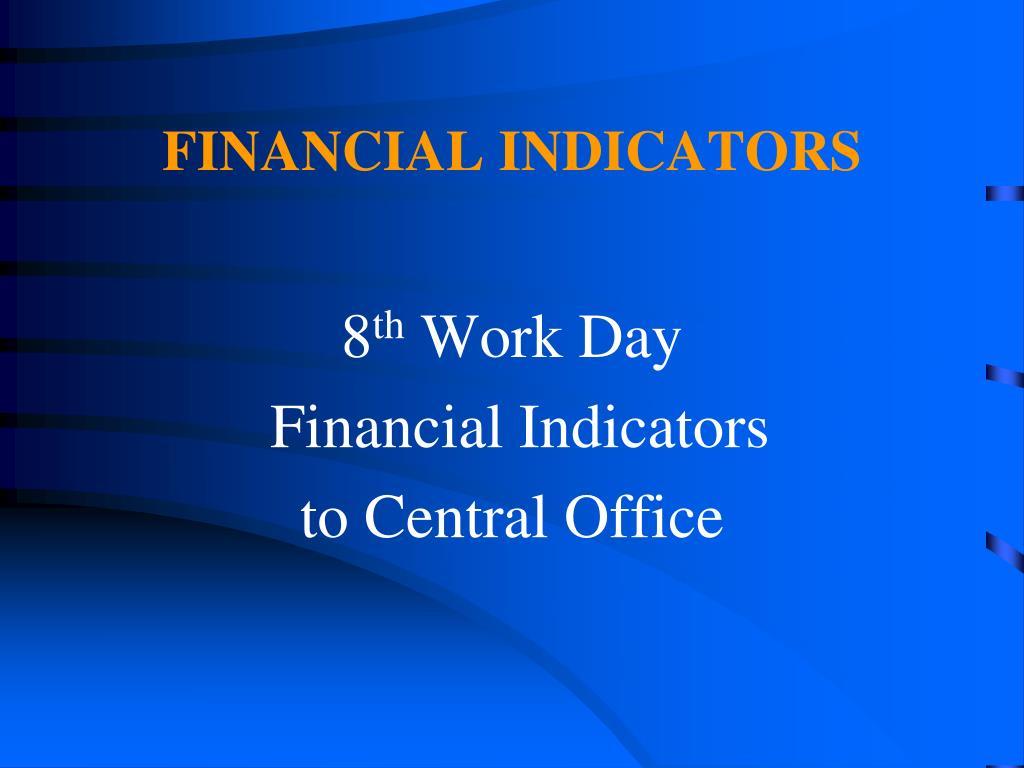 FINANCIAL INDICATORS