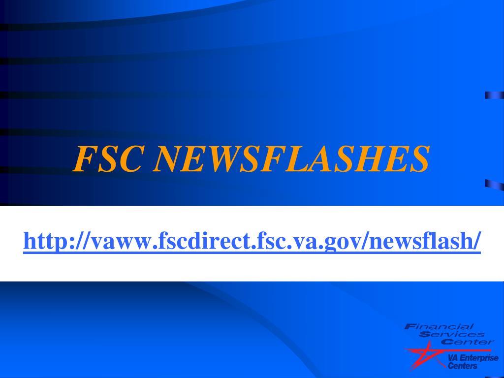 FSC NEWSFLASHES