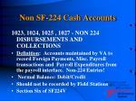 non sf 224 cash accounts21
