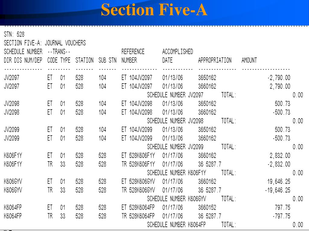 Section Five-A