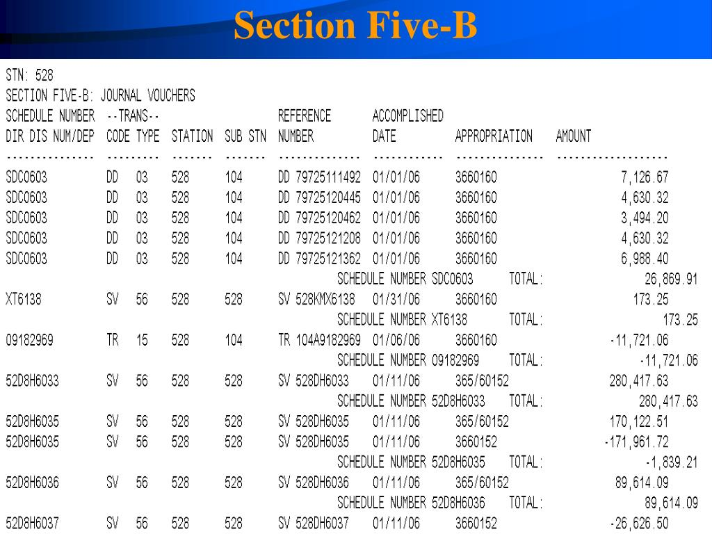 Section Five-B