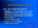 sf 224 cash accounts15