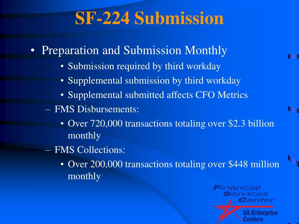 SF-224 Submission