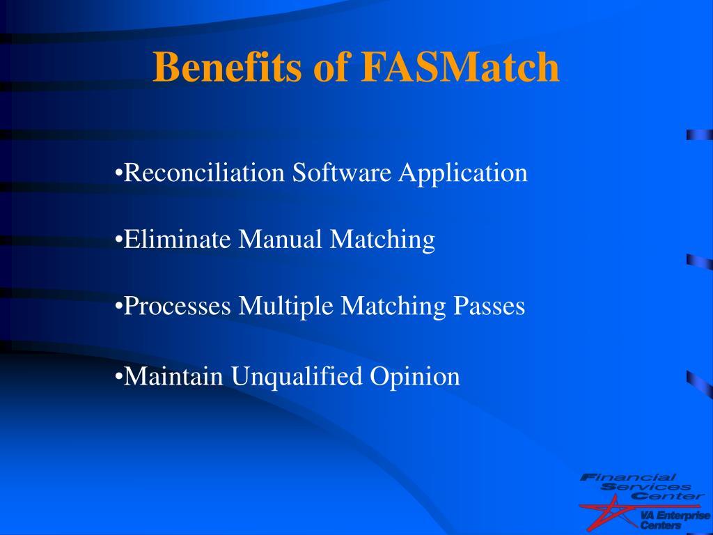 Benefits of FASMatch