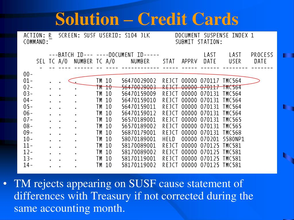 Solution – Credit Cards