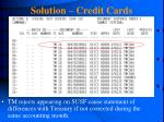 solution credit cards