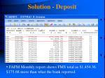 solution deposit129