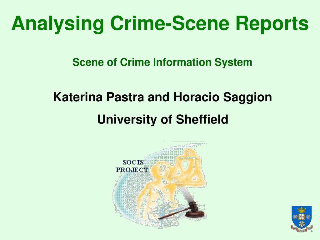 analysing crime scene reports