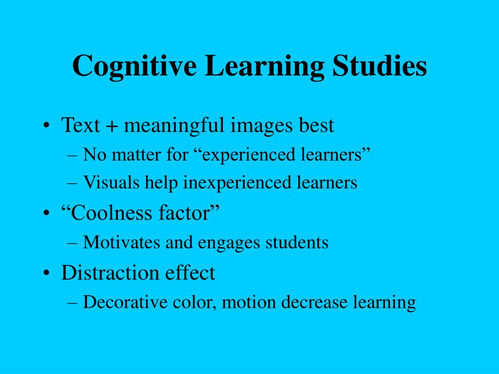 Cognitive Learning Studies