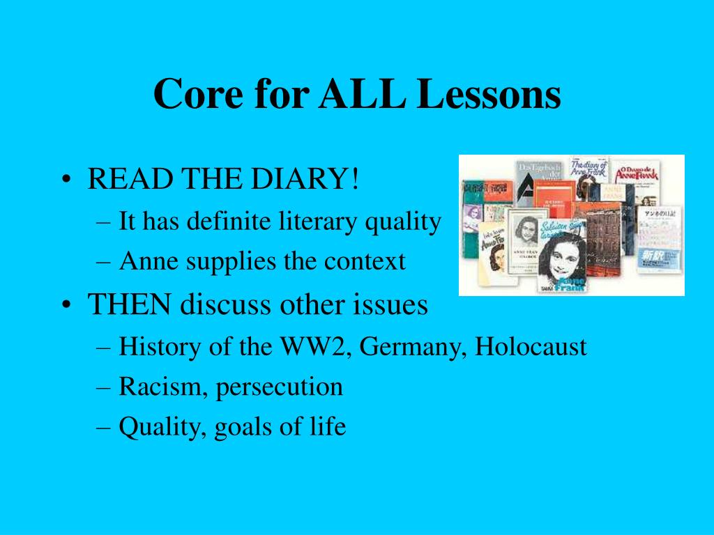 Core for ALL Lessons