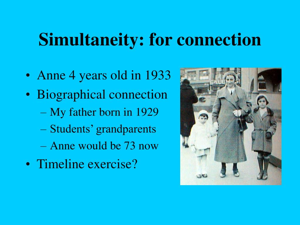 Simultaneity: for connection