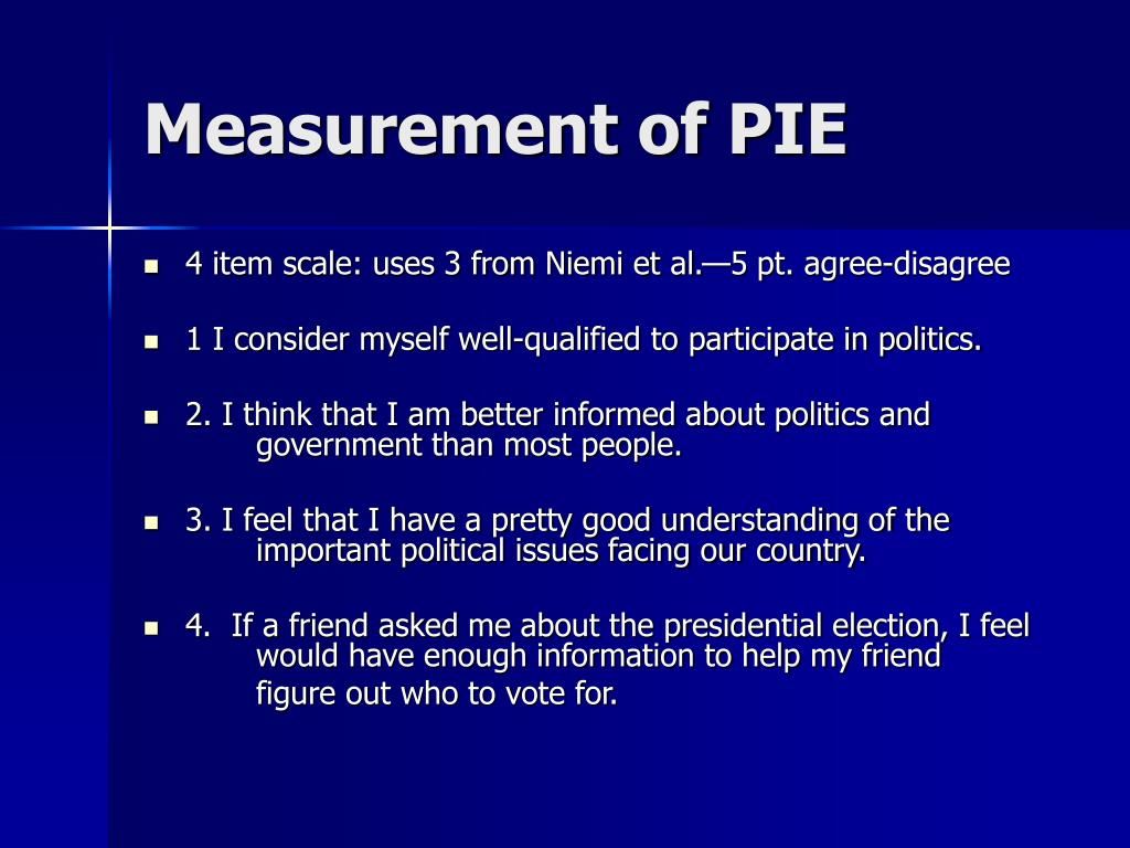 Measurement of PIE