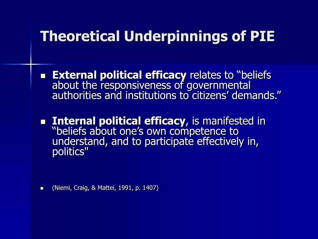 Theoretical Underpinnings of PIE