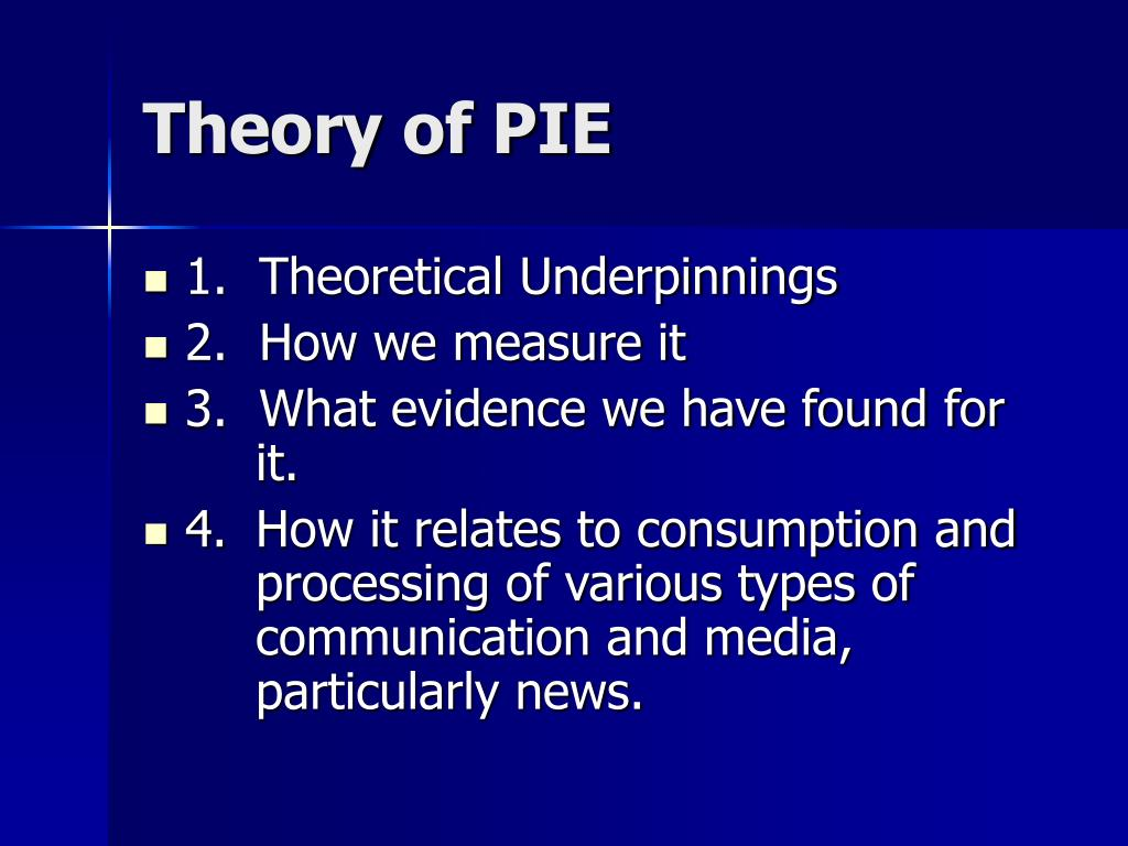 Theory of PIE