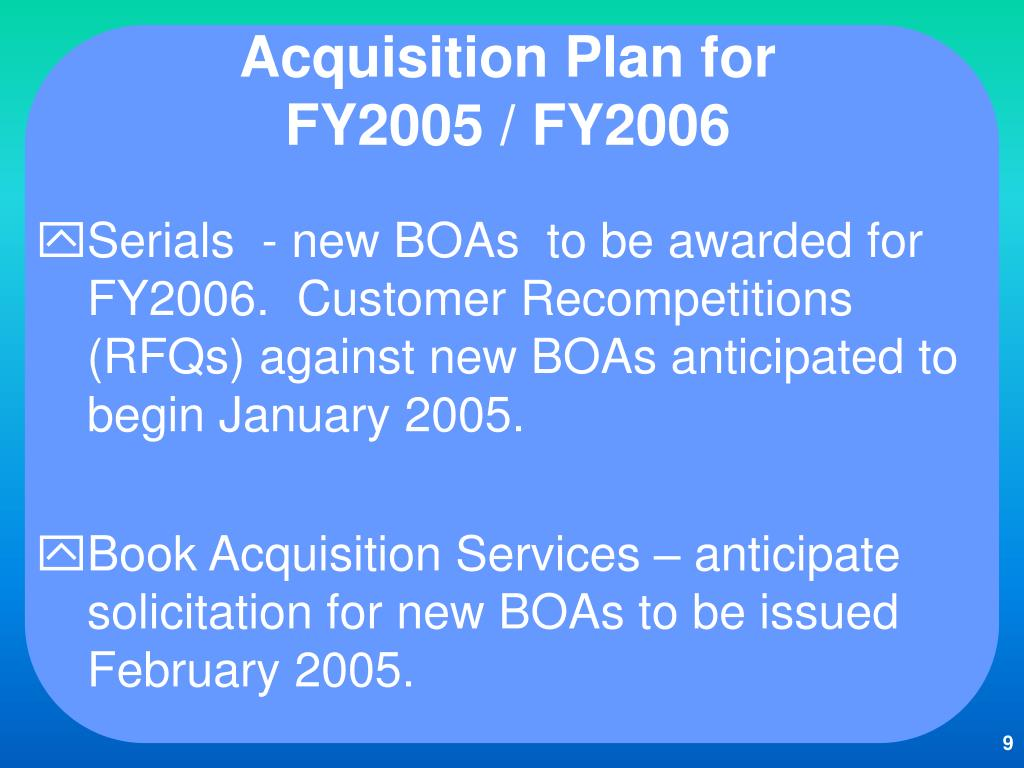 Acquisition Plan for