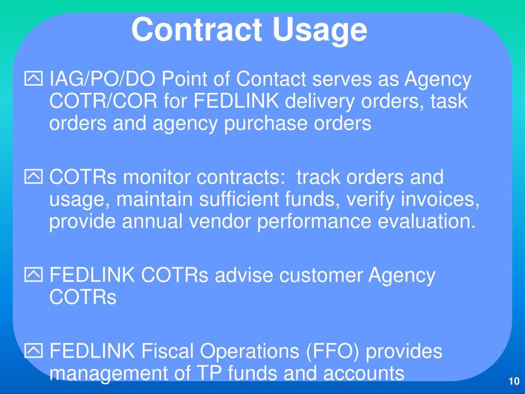 Contract Usage