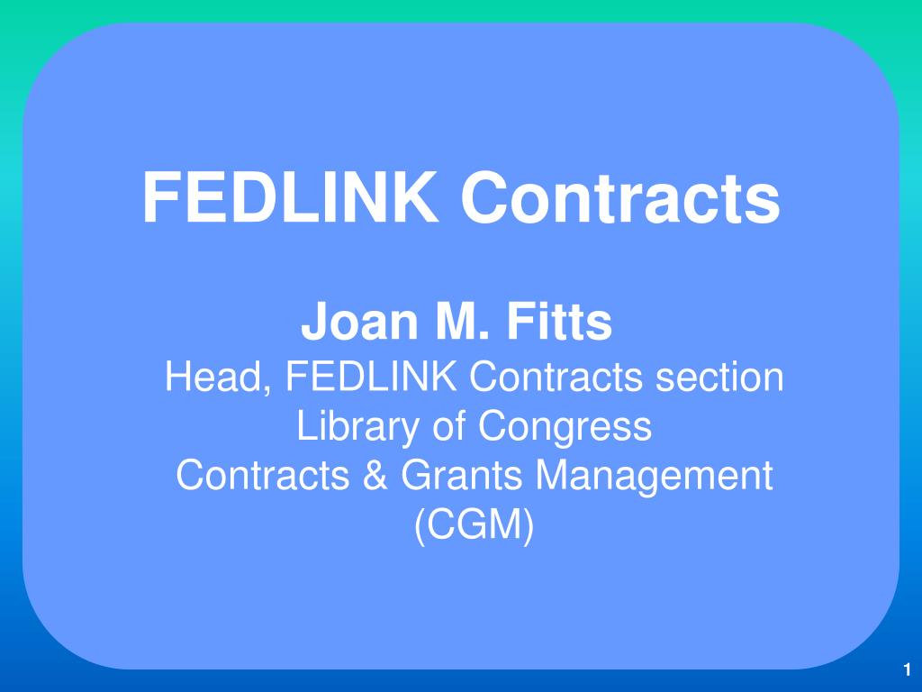 FEDLINK Contracts