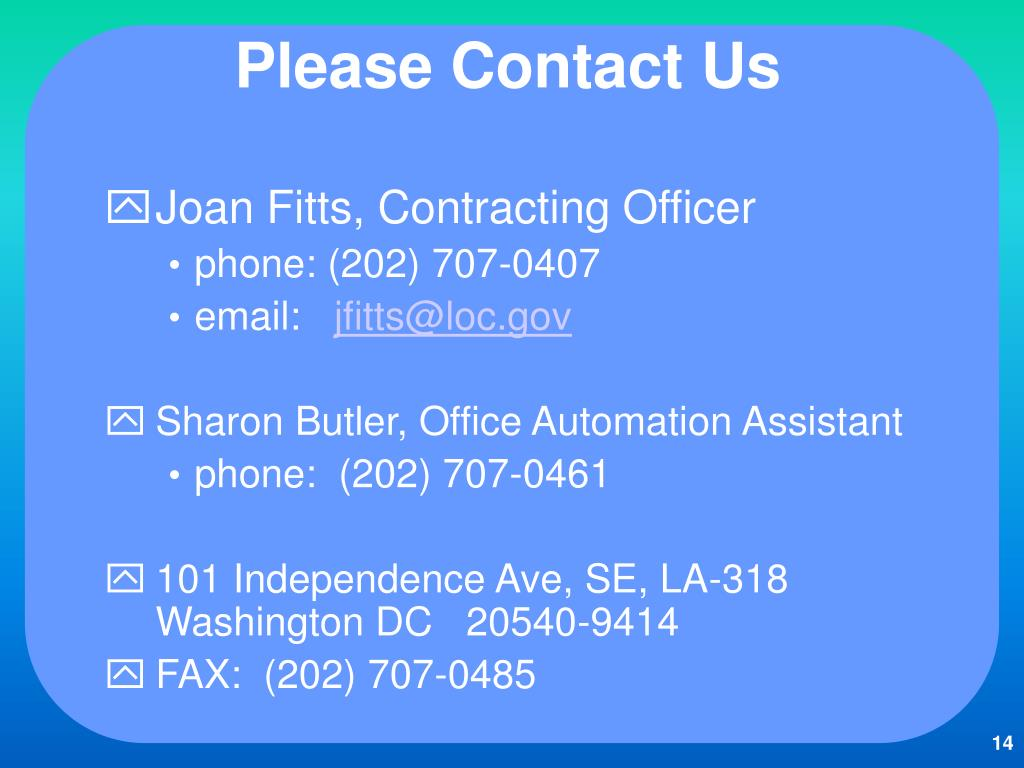 Please Contact Us