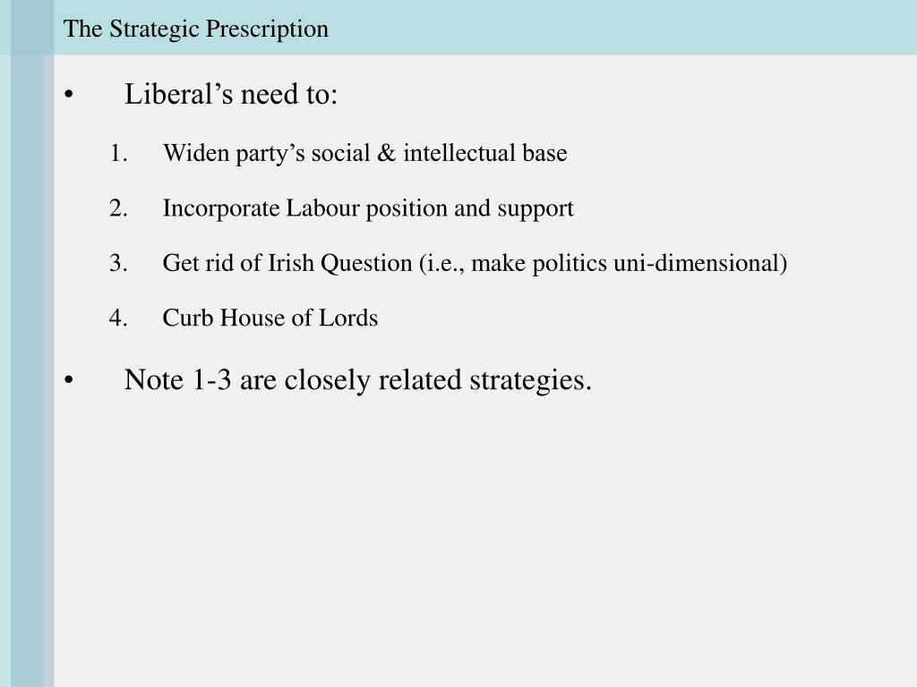 The Strategic Prescription