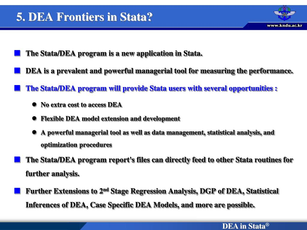 5. DEA Frontiers in Stata?