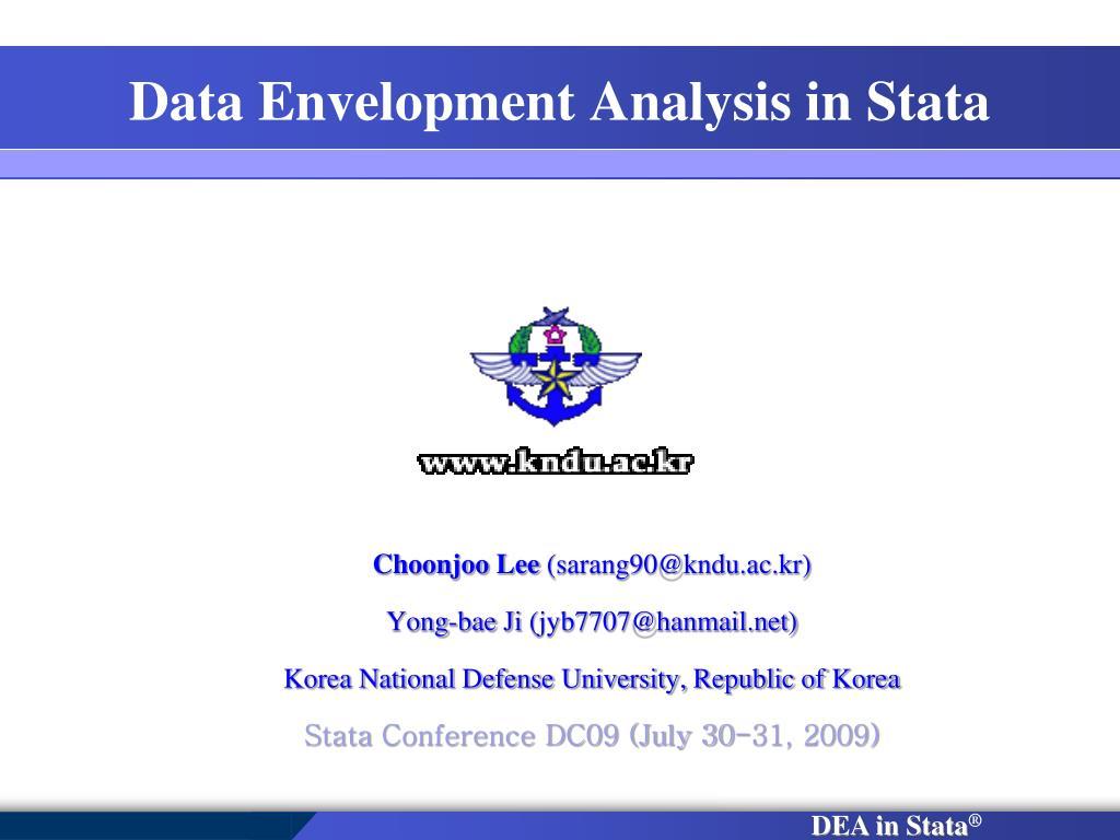 Data Envelopment Analysis in Stata