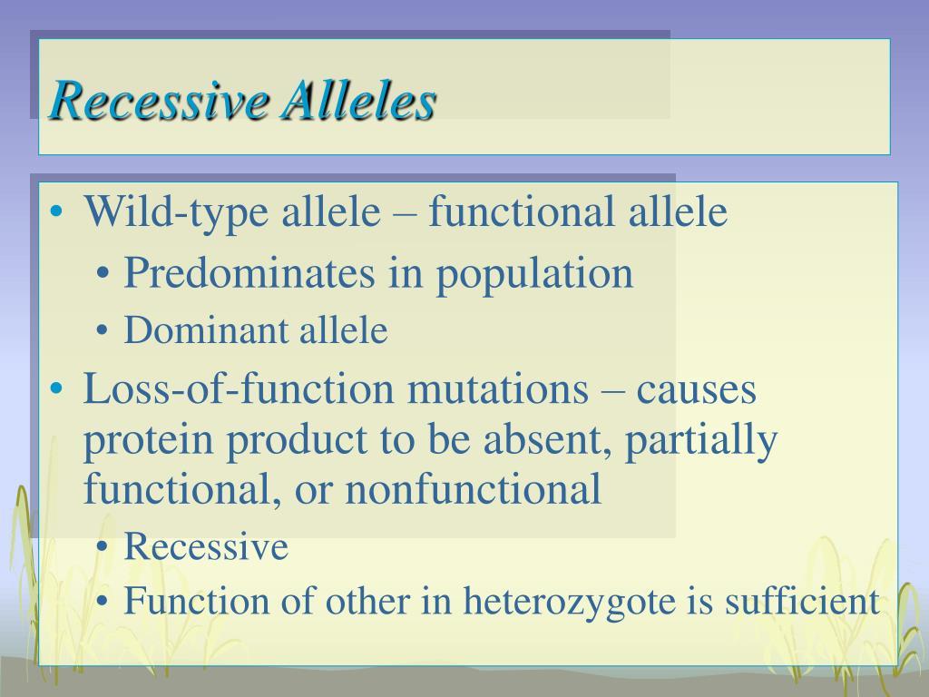 Recessive Alleles