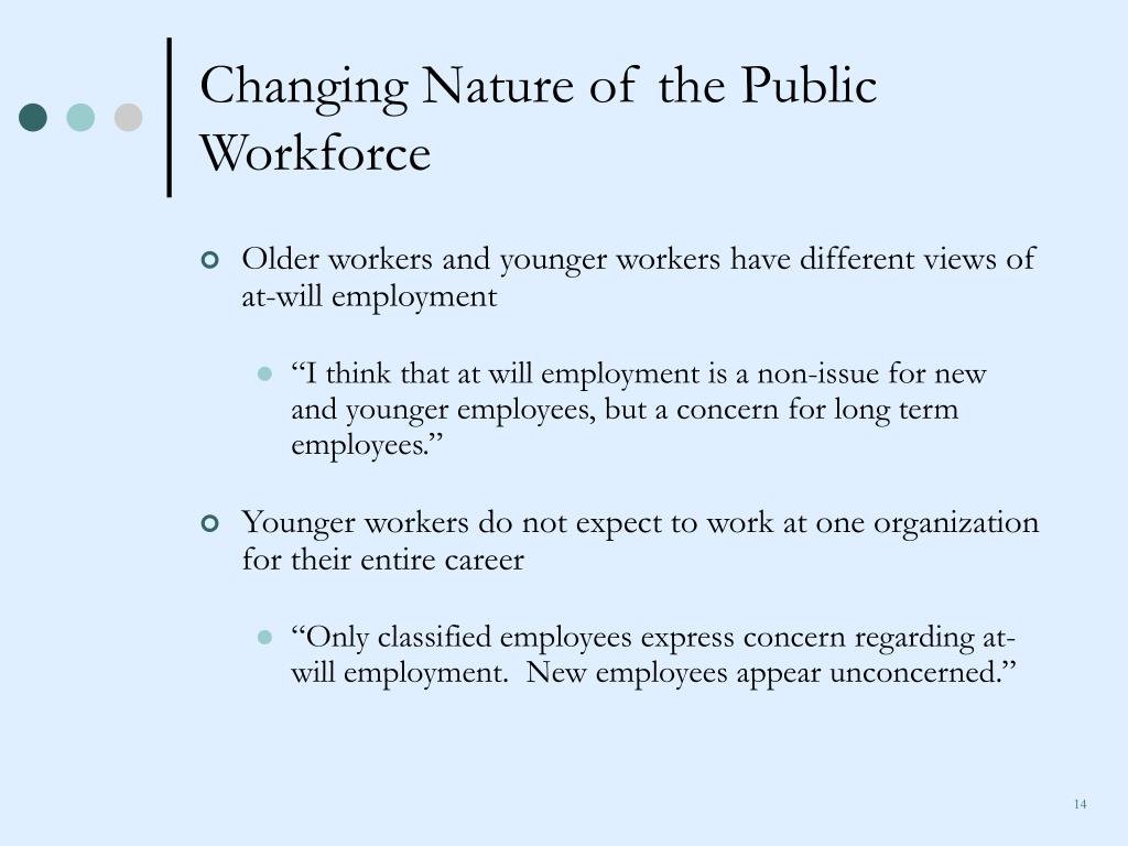 Changing Nature of the Public Workforce