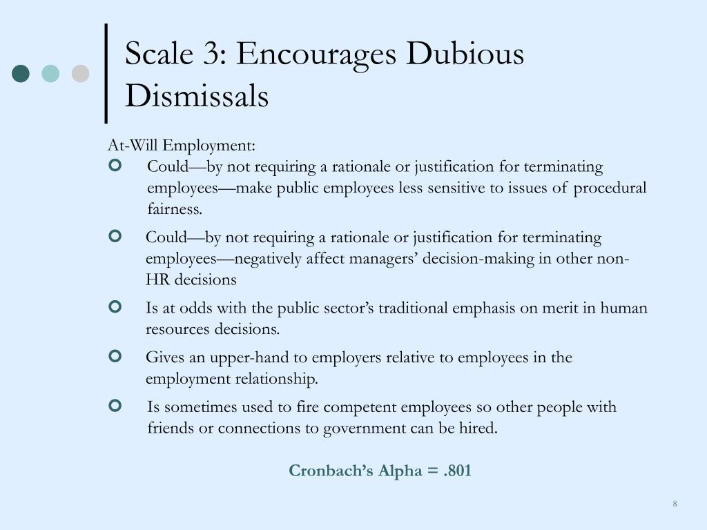 Scale 3: Encourages Dubious Dismissals
