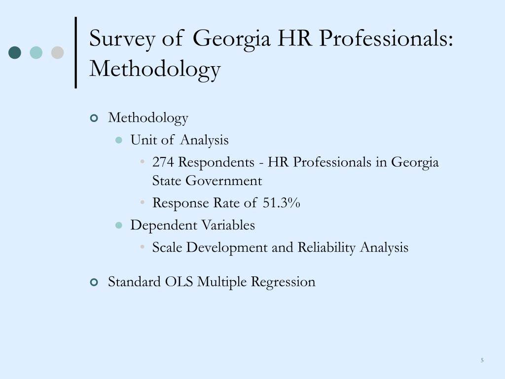 Survey of Georgia HR Professionals: Methodology